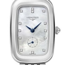 Longines Equestrian Steel Womens Watch Mother-of-Pearl Dial...