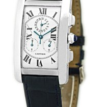 "Cartier ""Tank Americaine"" Chronograph Strapwatch."