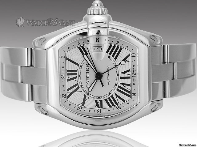 Cartier Roadster Automatic GMT - XL Stainless Steel Case Size - Ref W62032X6 - Boxes/Papers 100% Complete &amp;amp; As-New