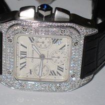 卡地亚 (Cartier) Santos 100 XL Chronograph Diamonds