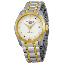 Tissot Couturier Automatic White Dial Two-tone Ladies Watch