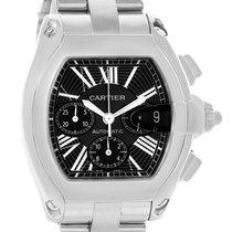 Cartier Roadster Chronograph Black Roman Dial Mens Watch W62020x6