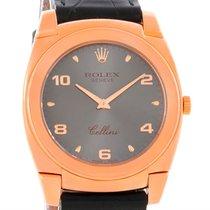 Rolex Cellini Cestello 18k Rose Gold Mechanical Watch 5330