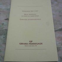 Girard Perregaux vintage warranty booklet for ref.47990