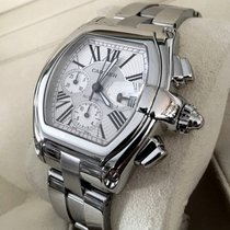 Cartier Roadster Chronograph Steel Grey Roman Dial (Full Set)