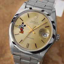 Rolex Oysterdate 1978 Mens Vintage Mickey Mouse Dial Watch Ref...