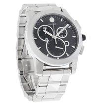 Movado Vizio Mens Carbon Dial Swiss Quartz Chronograph Watch...