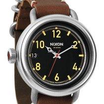 Nixon October Leather A279-019 Herren Black Brown 48mm 300M...
