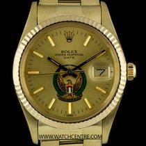 Rolex 14k Y/G Military UAE Crest Eagle Logo Dial Datejust 15037