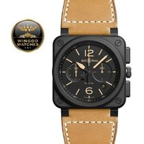 Bell & Ross - Heritage Chronograph Black Dial Beige Leather