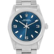 Rolex Midsize Non-date Blue Dial Oyster Bracelet Steel Watch...