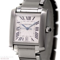 Cartier Tank Francaise Ref- W51002Q3 Stainless Steel Box...