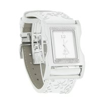 Dior Chris 47 Diamond Bezel White Strap Swiss Quartz Watch...
