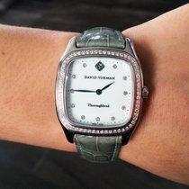 David Yurman T303-SST Thoroughbred Diamond Bezel Watch
