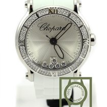 Chopard Happy Sport XL round floating diamonds 42mm 288525-300...