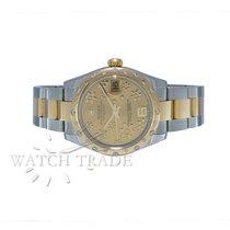 Rolex DATEJUST STEEL/GOLD FLORAL W/ DIAMONDS REF.: 178343
