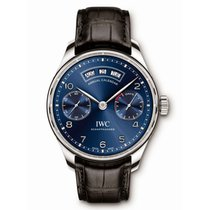 IWC Portugieser Annual Calendar IW503502 Blue Stainless Steel...