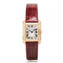 Cartier Tank Anglaise Rose Gold with Diamonds