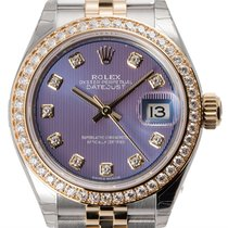 Rolex Lady-Datejust 28 Steel and Yellow Gold Lavender/Diamonds...