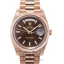 勞力士 (Rolex) Day-Date 40 Chocolate/18k Rose Gold 40mm - 228235