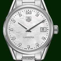 TAG Heuer Carrera WAR1314 Mother Of Pearl Diamonds Box&Papers