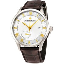 Maurice Lacroix Masterpiece Brown Leather Mens Watch MP6807-SS...