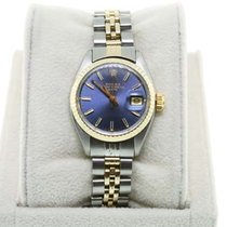 Rolex Datejust 6917 Two Tone Blue Dial Ladies Watch