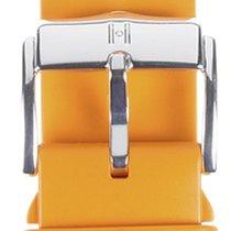 Hirsch Uhrenarmband Kautschuk Pure orange 40538876-2-20 20mm