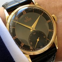 Omega Stunning 30T2 14ct solid gold black two tone dial art deco