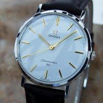 Omega Swiss Made Rare Seamaster 30  Mens Manual 1950s Vintage...