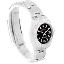 Rolex Nondate Ladies Black Dial Oyster Bracelet Watch 176210