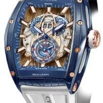Cvstos Challenge Sealiner GMT Men's Watch, Blue Steel with...