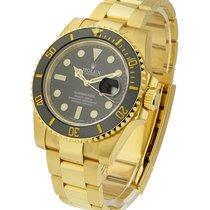 Rolex Unworn 116618 Yellow Gold Submariner - 116618 - Black...