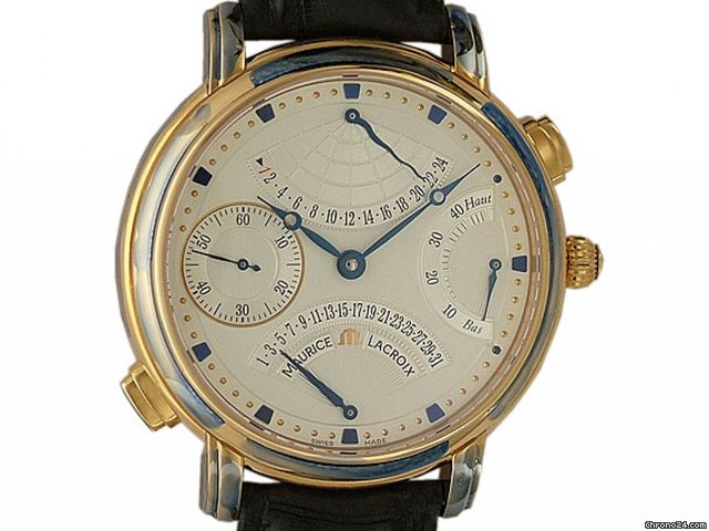 Maurice Lacroix Masterpiece Double Retrograde Handaufzug Rosgold 43mm