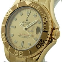 Rolex Yacht-Master MidSize 18k Yellow Gold Champagne Dial Ref....