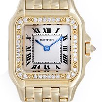 Cartier Panther Ladies 18k Yellow Gold Diamond Watch