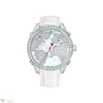 Jacob & Co. White Pearl Stainless Steel Diamonds Leather...