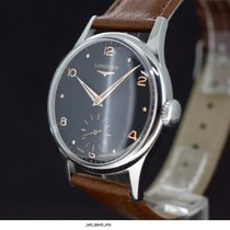 Longines Black Dial Rot Gold Indexes Kaliber 1268Z aus 1956