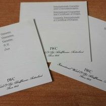 IWC vintage warranty watch or chronograph papers and booklets