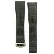 TAG Heuer -black Deployment Buckle Crocodile Leather Strap