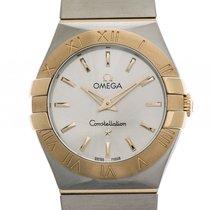 Omega Constellation Stahl/18 kt Gelbgold Brushed Quarz 27 mm