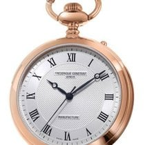 Frederique Constant Manufacture Silver Dial Rose Gold Stainles...
