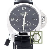Panerai Luminor 1950 3d power reserve Black Dial Crocodile...