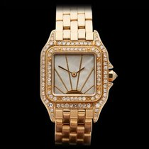 Cartier Panthere Original Diamonds and Sunrise Mother of Pearl...