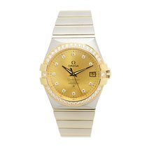 Omega Constellation Gold Steel Diamond Gold Automatic 123.25.3...