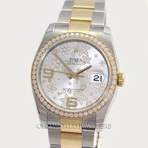 Rolex Datejust 116243 Factory Flower Dial Diamond Bezel