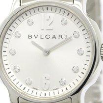 Bulgari Polished  Solotempo Diamond Steel Quartz Ladies Watch...