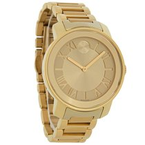 Movado Bold Ladies Champagne Gold Tone Bracelet Swiss Watch...