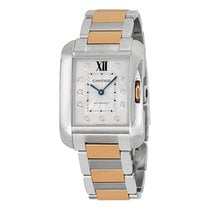 Cartier Tank Anglaise Automatic Silver Dial Ladies Watch WT100025