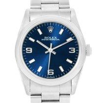 Rolex Midsize Blue Dial Oyster Bracelet Steel Ladies Watch 77080